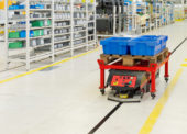 Automatizovaný vozík Linde C-MATIC pro výrobní logistiku