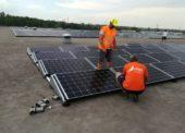 ADLER instaloval FVE na střeše logistického centra