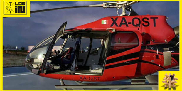Rýchla preprava zásielky pre automotive vrtuľníkom
