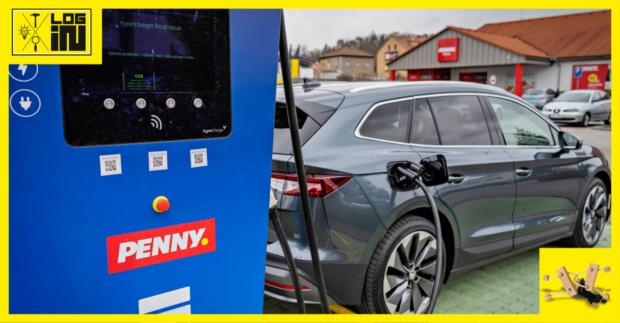 Penny Market instaluje u svých prodejen dobíjecí stanice pro elektromobily