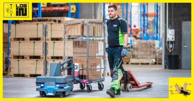 Inovované řešení pro interní přepravu nákladních vozíků
